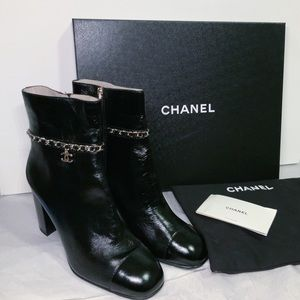 Chanel Calfskin Ankle Boots